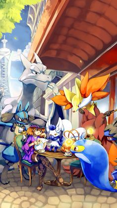 My Pokemon and I would go to cafes together all the time