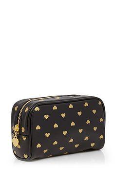 Heart Print Beauty Bag   FOREVER 21 - 1000118327
