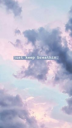 ▷ 1001 + amazingly cute backgrounds to grace your screen just-keep-breathin-purple-sky-pink-iphone-wallpaper Tumblr Wallpaper, Screen Wallpaper, Wallpaper Quotes, Trendy Wallpaper, Cloud Wallpaper, Iphone Wallpaper Vintage Quotes, Positive Quotes Wallpaper, Quotes Lockscreen, Smile Wallpaper