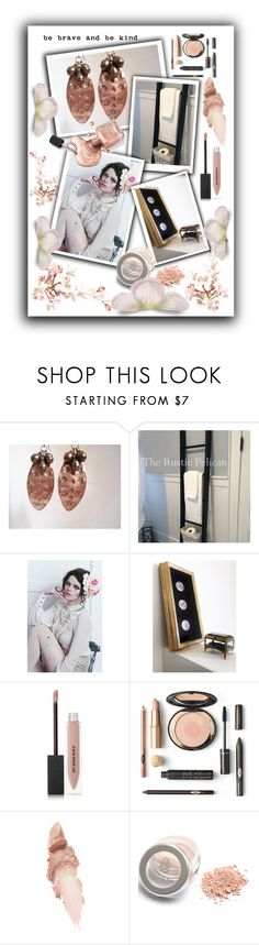 """Be Brave And Be Kind"" by jarmgirl ❤ liked on Polyvore featuring Burberry, Maybelline and vintage"