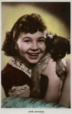 American actress Jane Withers who started her acting career at the age of three