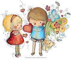 valentine's day illustration.   Rachelle Anne Miller