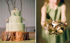 birdie cake for enchanted forest themed party (cake by Masse's Pastries; photography by Lisa Lefkowitz)
