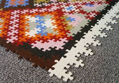"""Check out these strange rugs!  """"The Puzzle Rug designed by Katrin from Germany."""" #Rug http://www.home-designing.com/2008/12/rugs-with-a-difference  Design Detective is ready to help you! Just give us a call. Call à la carte DESIGN 303.885.7706"""