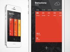 WeatherApp Home Screen (swipe)
