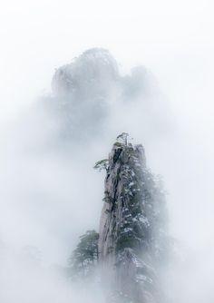 Mount Huangshan ink by xujun