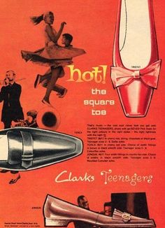Shoe ad from the 1950s.
