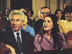 "Love Story 1970: Jenny Cavilleri & her dad ""Phil,"" played by John Marley, attending Ollie's graduation."