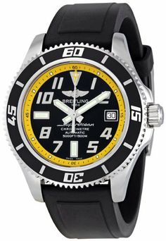 Breitling Superocean Black and Yellow Dial Mens Watch A1736402-BA32BKPT Breitling. Save 20 Off!. $2504.00