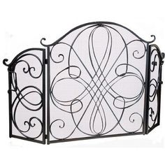 black iron fireplace screen. Oxford 3 Panel Iron Fireplace Screen Finish  Silver WYF078277570892 Features Footed Cast Fire Hearts Pinterest Screens