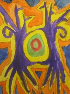 Trees without leaves...shine brite zamorano  symmetry, complimentary colors