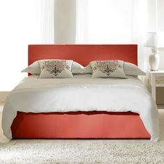 Madrid #ottoman bed frame in Red - #bedroomideas