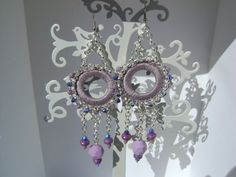 Lilac earrings by useyourwings on Etsy