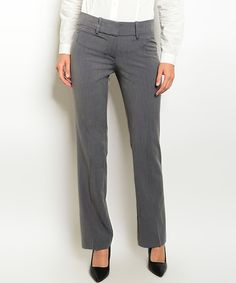 Another great find on #zulily! Charcoal Belt Loop Pants by Forever Lily #zulilyfinds