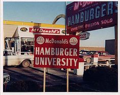 The original Hamburger University sign