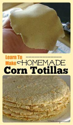 Homemade corn tortillas - so I can use the organic, non GMO corn from my garden.