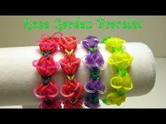 Loom Bands Rosebud Loom Bracelet (Fun loom + crazy loom + Rainbow Loom) - YouTube