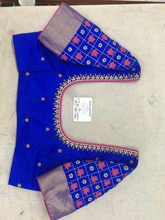 Cotton Saree Blouse Designs, Best Blouse Designs, Simple Blouse Designs, Stylish Blouse Design, Designer Blouse Patterns, Work Blouse, Party Blouses, Sarees, Ganesha Drawing