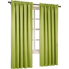 Sun Zero™ Emory 2-Pack Room-Darkening Rod-Pocket Curtain Panels ($24) ❤ liked on Polyvore featuring home, home decor, window treatments, curtains, rod pocket panel, winter curtains, room darkening window panels, room darkening curtain panels and rod pocket drapery panels