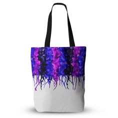 """Claire Day """"Drops"""" Purple Everything Tote Bag from KESS InHouse"""