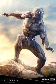 Marvel Premier Black Panther ARTFX Statue from Kotobukiya Black Panther Marvel, Black Panther Statue, Black Panther Images, Black Panther Art, Black Art, Black Panthers, Marvel Universe, Marvel Comics, Avengers