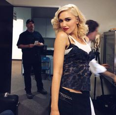 Backstage at the Voice - Gwen