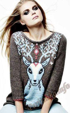 Пуловер (ж) 12*110 Phildar №4268