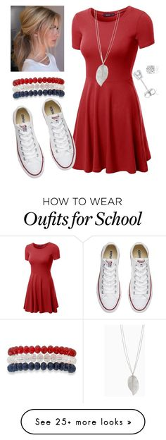 """""""Every Day School Outfit"""" by lklfamily on Polyvore featuring Doublju, Converse, Kim Rogers and Amanda Rose Collection"""