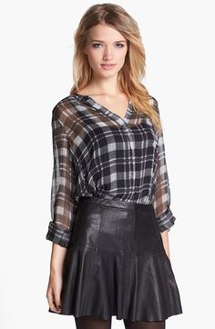 Joie 'Brigid' Plaid Silk Shirt available at #Nordstrom