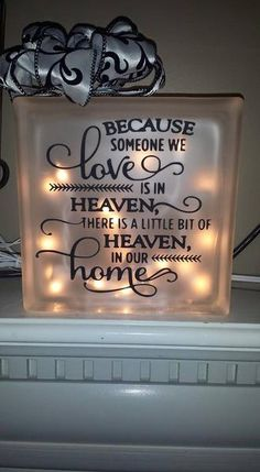 Glass Block with lights - Vinyl Designs By Apr... | Scott's Marketplace