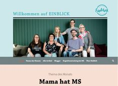 "EINBLICK: der neue Themenmonat ist online: ""Mama hat MS!"" Multiple Sclerosis, Father"
