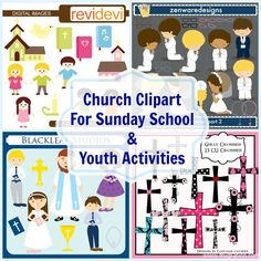 Church Clipart For Sunday School & Youth Activities
