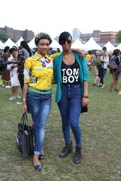 Siara and Tushiya - Great Looks from the Afropunk Festival (Brooklyn, NYC 2014)