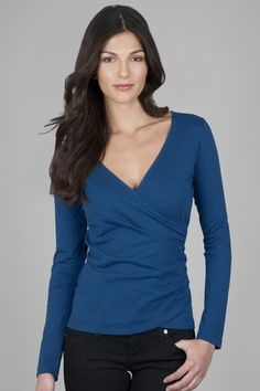 Lilla P long sleeve top in this gorgeous teal