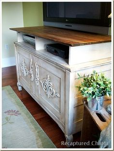 Old Chest repurposed to an Entertainment Unit :: Hometalk