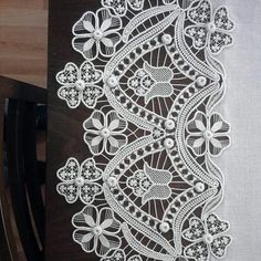 very intricate tape lace looking in places like bobbin lace added---quite beautiful!  :-)