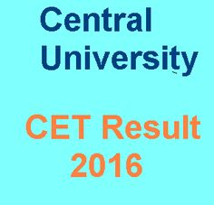 CUCET result 2016