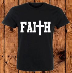 Faith Jesus shirt black Christian shirt Bible by airspin on Etsy, $10.85