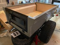 This is Micah's DIY Dinoot M416 Trailer getting off to a good start. Compact, Camping, Building, Outdoor Decor, Diy, Home Decor, Campsite, Decoration Home, Bricolage