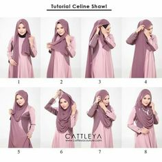 This is a modest and beautiful full chest coverage hijab tutorial, looking gorgeous, flowing and covering almost all the chest area. Here are the steps for this look: Place the hijab on your head with long & short sides Take… Square Hijab Tutorial, Hijab Style Tutorial, How To Wear Hijab, How To Wear Scarves, Turban Hijab, Hijab Dress, Hijab Mode Inspiration, Style Inspiration, Hijab Stile