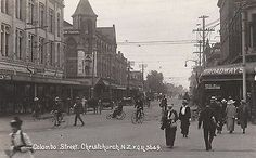 Postcards of the Past - Vintage Postcards of Christchurch, NZ Vintage Postcards, Vintage Photos, Christchurch New Zealand, The Past, Street View, History, Bicycles, Lost, Travel