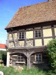 """Umgebindehaus """"Sperlingshof"""" in Soritz, Oberlausitz."""