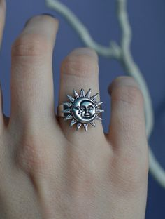 Sun and Moon ring by lotusfairy on Etsy, $10.00