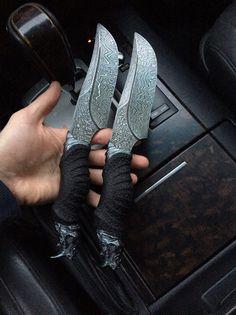Rhino on Handle Designs Cool Knives ...