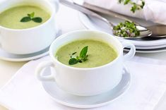Broccoli Basil Soup uses walnuts instead of cream to get that yummy, creamy consistency. #recipe