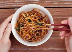 Stir-Fried Noodles with Chicken, Ginger and Basil | Williams-Sonoma Taste