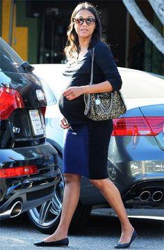 Zoe Saldana - maternity style