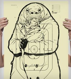 Sketchy Walrus Poster | Art Prints | Sharp Shirter | Scoutmob Shoppe