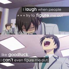 Sad Anime Quotes, Manga Quotes, Funny Relatable Memes, Funny Quotes, Johny Depp, Dark Quotes, Funny Anime Pics, Anime Life, Sad Anime Girl