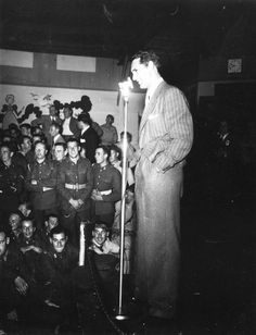 Cary Grant Entertains Servicemen At The Hollywood Canteen